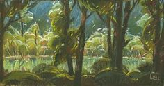 Noah Klocek, plein air pastel painting - I love the massing  and planes of light and shadow!