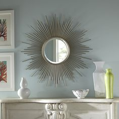 This allen + roth mirror would be the perfect addition to any room.