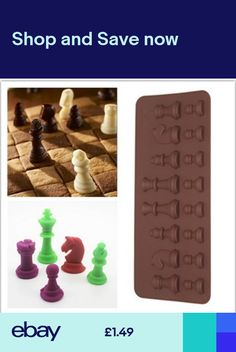3D Chess Ice Chocolate Sugar Cake Silicone Mini Cube Tray Chess Mold Candy Great 3d Chess, Pudding Cupcakes, Jelly Desserts, Diy Sushi, Lollipop Cake, Couture Ideas, Sugar Cake, Giant Cupcakes, Iced Cookies