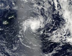Cyclone Ian formed quickly and was affecting the Tonga Islands in the Southern Pacific Ocean on January 6, 2014 as NASA's Aqua satellite passed overhead and captured an image of the storm.