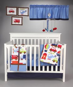 Take a look at this Transportation Crib Bedding Set by Bacati on #zulily today!