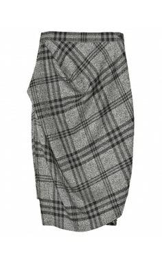 Plaid Wool Pencil Skirt January 2017
