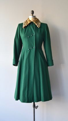Talcon Hill coat vintage 1940s coat wool 40s by DearGolden