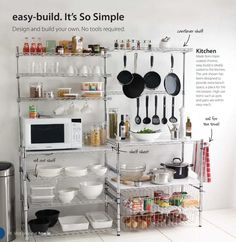 Superbe Chrome Plated Metal 5 Shelf Pantry Shelving | Pantry   Kitchen | Pinterest  | Pantry Shelving, Chrome Plating And Shelving