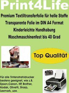 P4L - 15 Blatt T-Shirt Folie Transferfolie Textilfolie Transferpapier klar/transparent von Print4Life, http://www.amazon.de/dp/B002U1W348/ref=cm_sw_r_pi_dp_Psjjtb0HWQQNX
