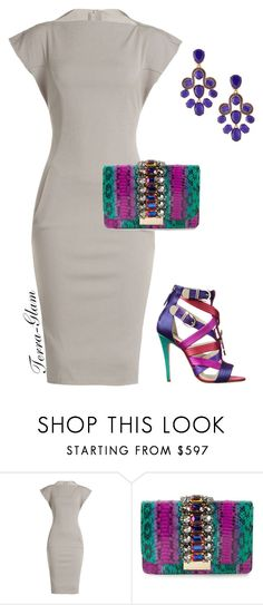 """Simple Yet Colorful!"" by terra-glam ❤ liked on Polyvore featuring Rick Owens, Brian Atwood, GEDEBE and Oscar de la Renta"