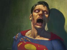 Zombie superman by otomozok on DeviantArt Zombie Life, Zombie 2, Zombie Apocalypse, Zombie Style, Batman, Superman, Comic Books Art, Comic Art, Book Art