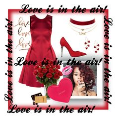 """""""Love is in the Air! 💘"""" by d-fashion98 ❤ liked on Polyvore featuring Emporio Armani, Charlotte Russe, Le Silla, Kate Spade and Umbra"""