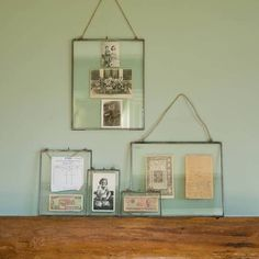 copper and glass clip frame