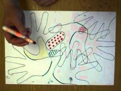 trace hands and create patterns inside each space with markers. An easy, fun art lesson, for sub?
