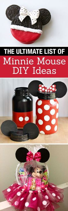 The Ultimate List of Minnie Mouse Craft Ideas! Party Ideas, DIY Crafts and Disney themed fun food recipes. LivingLocurto.com
