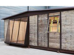 demountable house, 1945 by Jean Prouvé - Galerie Patrick Seguin Tole Pliée, Jean Prouve, Retail Concepts, Prefabricated Houses, Steel House, Modern Artists, Le Corbusier, Architecture, Habitats