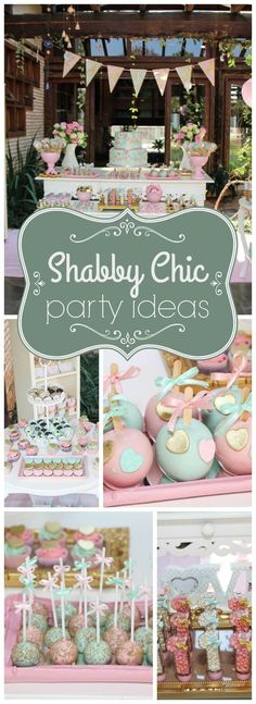 Check out this cute shabby chic heart themed party! See more party ideas at CatchMyParty.com!