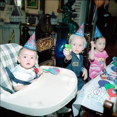 Michael Jackson's children; Prince celebrates his 6th birthday with his sister Paris (age 4) and little half-brother Blanket (aged 11 months) on 13th February 2003.