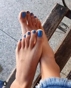 Pin on Sexy toes Pin on Sexy toes Blue Toe Nails, Pretty Toe Nails, Feet Nails, Pretty Toes, Bright Toe Nails, Toenails, Foot Pedicure, Pedicure Colors, Feet Soles