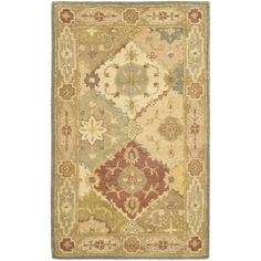 Safavieh Handmade Antiquities Bakhtieri Multi/ Beige Wool Rug (2'3 x 4'), Blue, Size 2'3 x 4' (Cotton, Border)