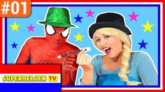 🇳🇱 Superhelden TV #01: Frozen Elsa en Spiderman Goochelen! Olaf Nederlan...