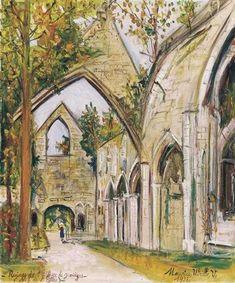 Maurice Utrillo, Ruines de l'Abbaye de Jumièges. Seine Maritime