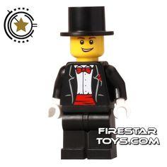 LEGO City Mini Figure - Wedding Groom with Top Hat | Male City LEGO Minifigures | LEGO Minifigures | FireStar Toys