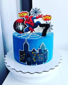 Spiderman Pasta, Fondant Tutorial, Cakes For Boys, Cakes And More, Cake Decorating, Birthday Cake, Desserts, Food, Spider Man