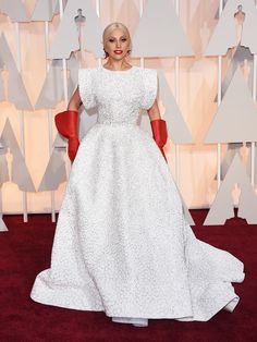 Lady Gaga in custom Alaia the 87th Annual Academy Awards