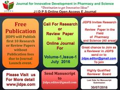 Call for Paper In JIDPS