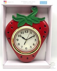 #keywebco Strawberry wall c... found at  http://keywebco.myshopify.com/products/strawberry-wall-clock-battery-operated?utm_campaign=social_autopilot&utm_source=pin&utm_medium=pin