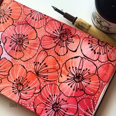 A bit of pen and ink poppies for | WEBSTA - Instagram Analytics