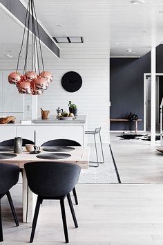 Minimalism is in. While bright chevron patterns were huge a few years ago, we've noticed muted color palettes replacing all things colorful. In fact, black and white decor has increased 40 percent since last year alone on Pinterest.