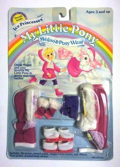 Vintage My Little Pony Megan Pony Wear Ice Princesses by Hasbro 1985 NRFP | eBay