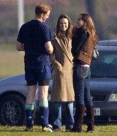 "Pin for Later: 48 Times You Could Almost Relate to Will and Kate The ""I'd Get My Flirt on, But Your Sister's Here"" William cocked his head and gave a sweet look to Kate when they hung out with her sister, Pippa, back in 2006 in Eton, England."
