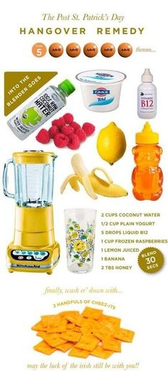 Hangover cure...crazy but if it works...i'll try it!