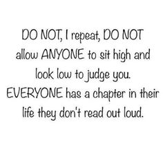 Look up to everyone.