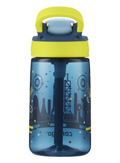Contigo AUTOSPOUT Straw Gizmo Flip Kids Water Bottle 14 oz. Nautical with Space Station *** Be sure to check out this awesome product.-It is an affiliate link to Amazon. #kitchenfixtures Kitchen Fixtures, Space Station, Nautical, Water Bottle, Kids, Amazon, Awesome, Check