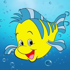 (via How To Draw Flounder From The Little Mermaid - Draw Central)
