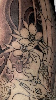 Japanese, Tattoos, Flowers, Tatuajes, Japanese Language, Florals, Japanese Tattoos, Tattoo, Tattoo Illustration