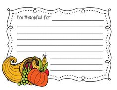 I'm thankful writing product from Lesson-Plans-and-Lattes on TeachersNotebook.com