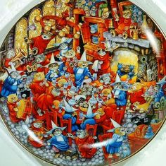 Franklin Mint Cats Food Fight Bill Bell Collector Plate Limited Edition Decor