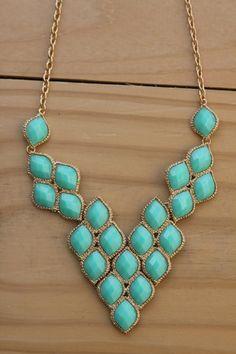 Beaded V Necklace