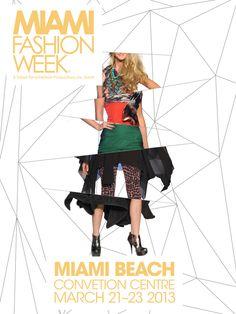 Miami Fashion Week Posters by Paul Morel, via Behance