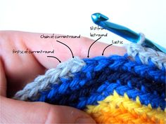 How to #crochet in joined rounds via @freshstitches