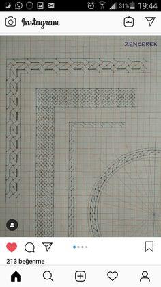 Islamic Art Pattern, Pattern Art, Borders Bullet Journal, Arabesque, Illumination Art, Alphabet Charts, Calligraphy Logo, Graph Paper, Celtic Designs