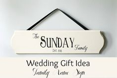 DIY Wedding gift idea  Last name sign how-to