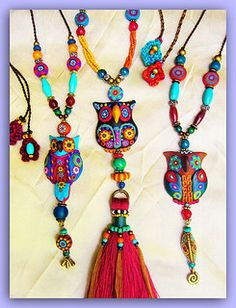 Owls necklace by Aow | by AowDusdee