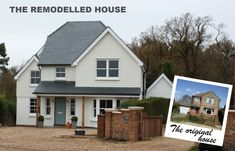 Before and after images of the remodelled and extended home. spaceandstyle.co.uk