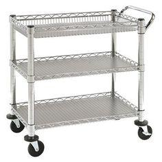 Seville Classics 3-Shelf UltraZinc Heavy-Duty Commercial Utility Cart