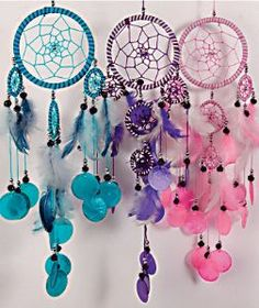 Dream Catcher~Dream Catcher with Capis Shells Blue, Pink, Purple or Turquoise~Fair Trade by Folio Gothic Hippy WCH10