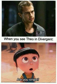 When you see Theo James in Divergent Divergent Theo James, Divergent Four, Divergent Trilogy, Divergent Insurgent Allegiant, Insurgent Quotes, Divergent Jokes, Divergent Hunger Games, Divergent Fandom, Tris E Quatro