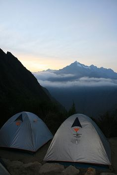 These are the kinds of views you wake up to in the morning // Inca Trail