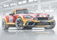Abarth 124 Rally Sketch